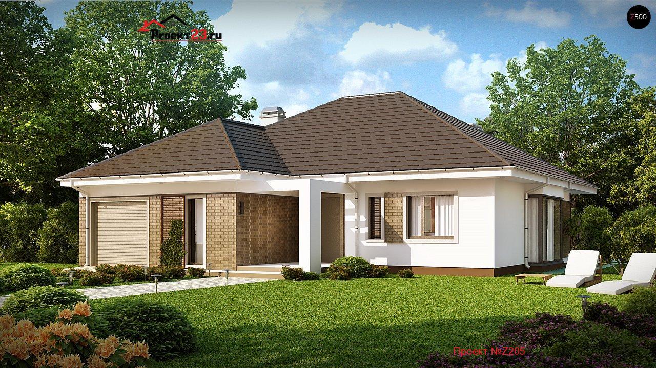 Внешние дизайны одноэтажных домов