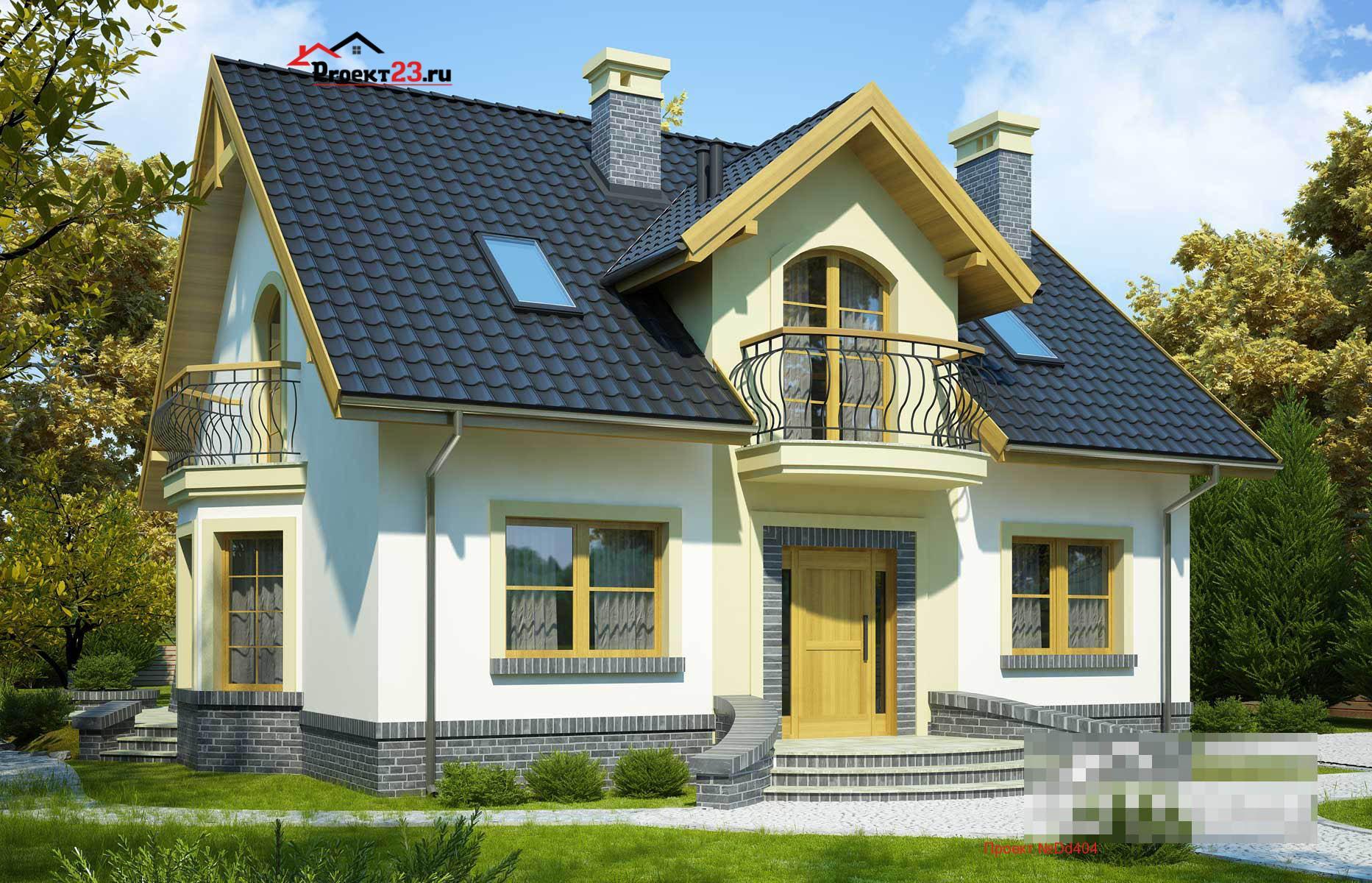 небольшие дома с мансардой картинки