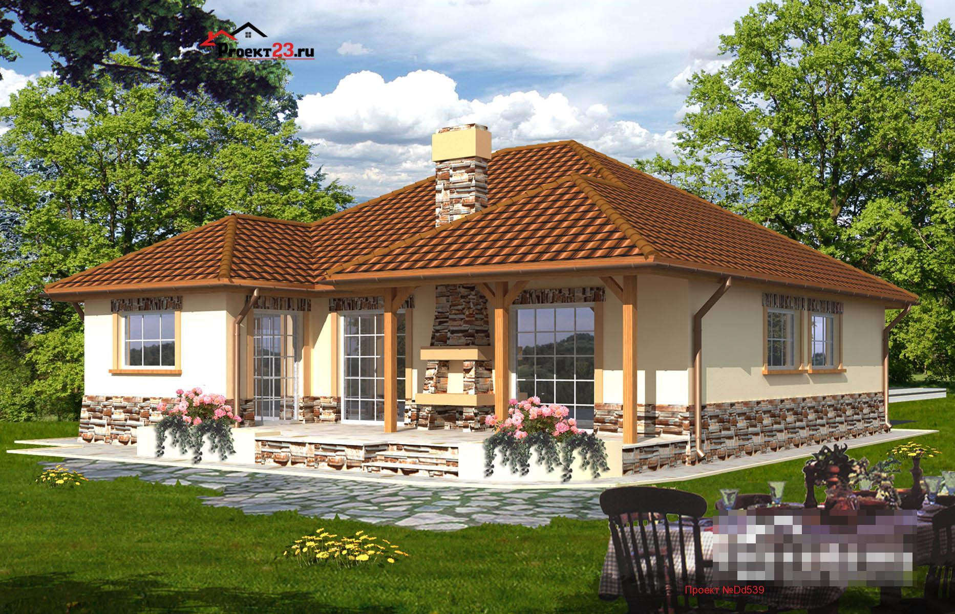 проект одноэтажных домов с верандой фото рекомендации размножению