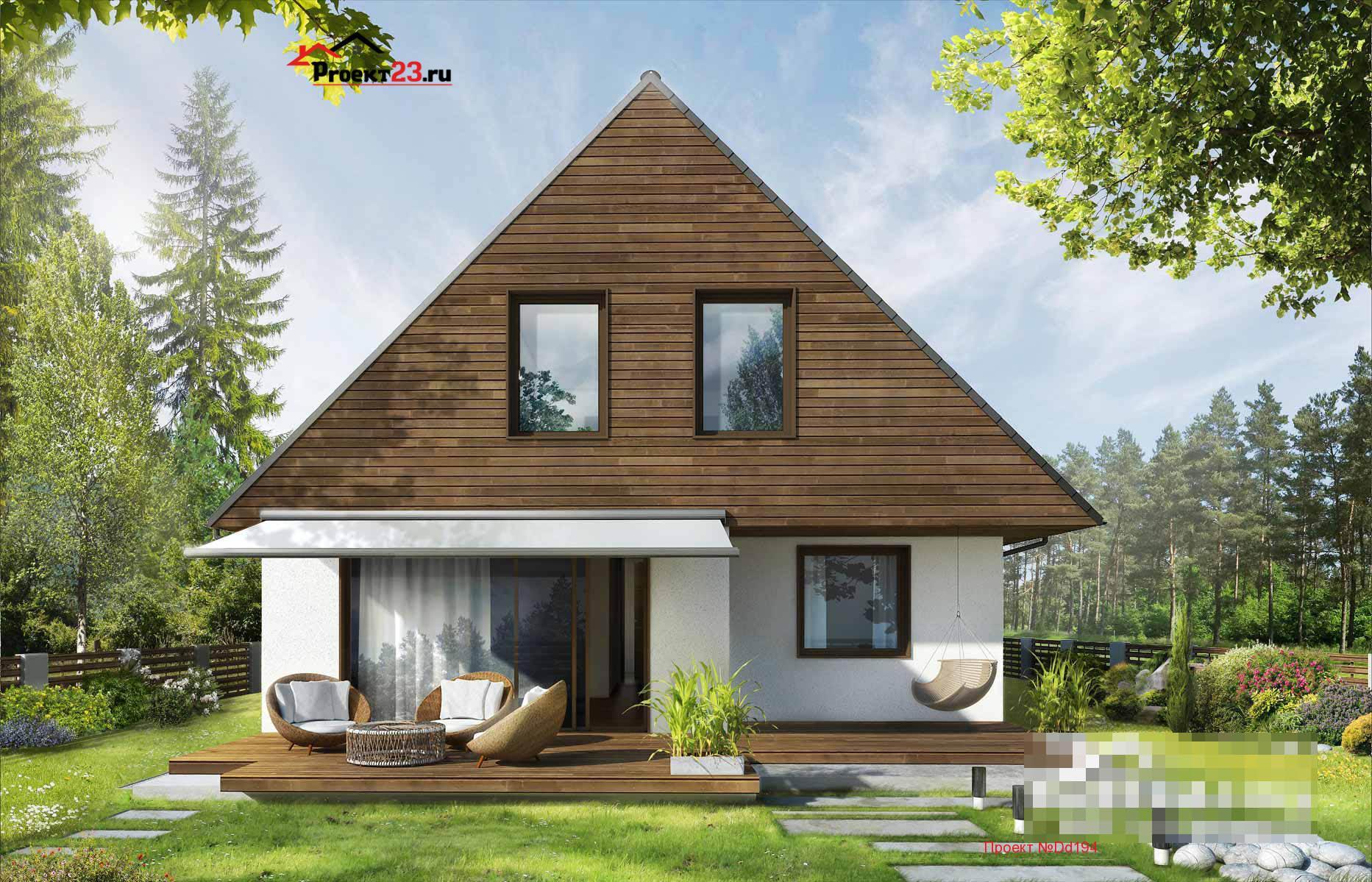 Проекты домов фото с мансардой небольшие