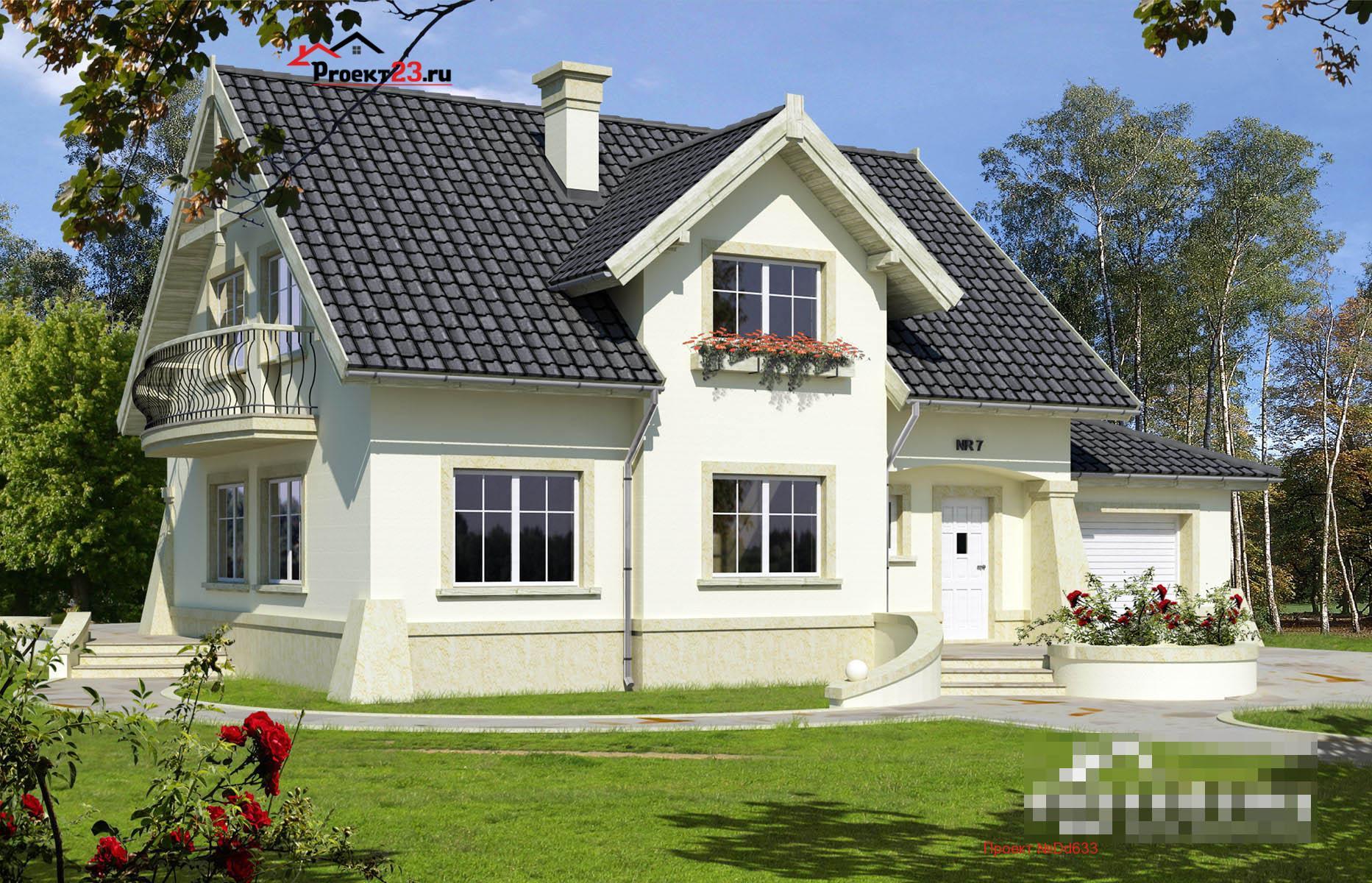 фото дома с мансардой и высоким аттикой смог образуется