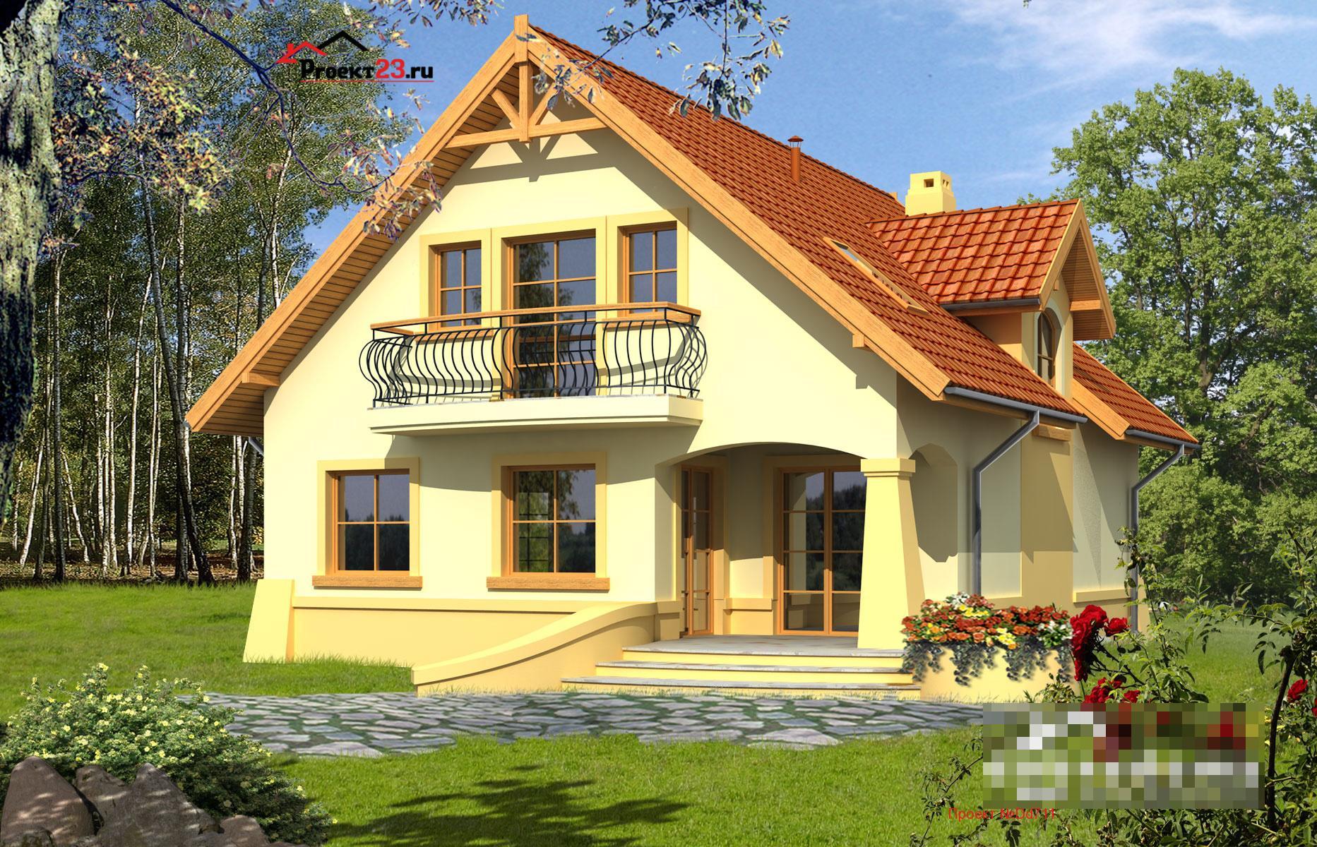проекты небольших домов с балконом фото заказать памятник или